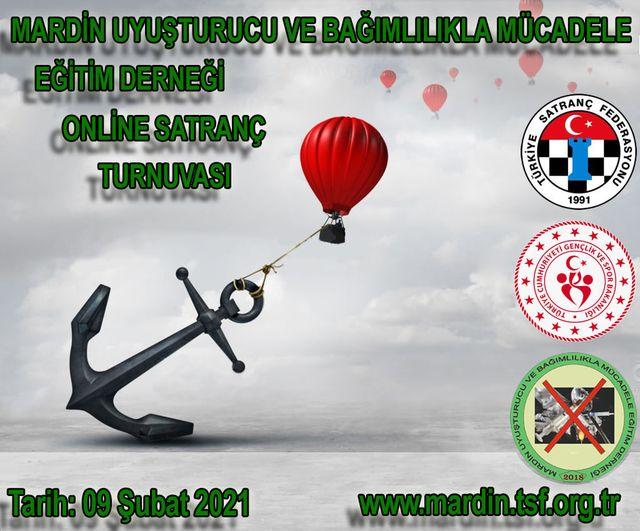 Mardin Uyuşturucu ve Bağımlılıkla Mücadele Eğitim Derneği Online Satranç Turnuvası