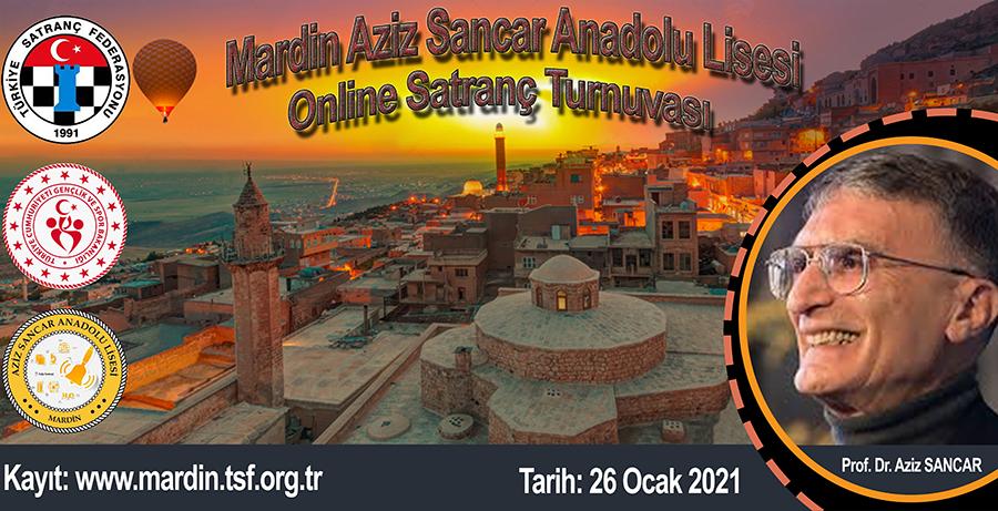 Mardin Aziz Sancar Anadolu Lisesi Online Satranç Turnuvası