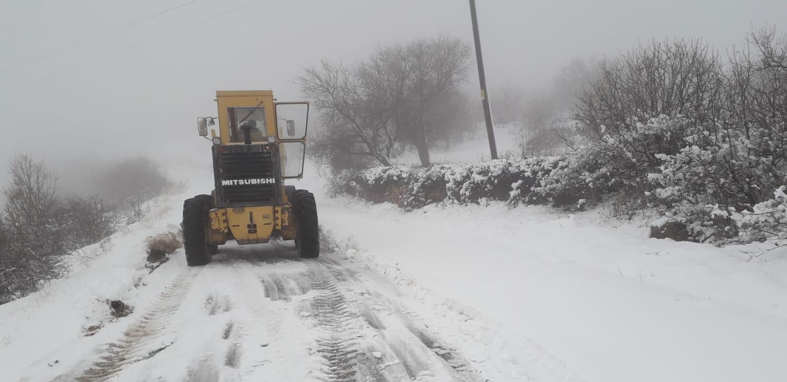 Mardin Büyükşehir Belediyesinden karla mücadele