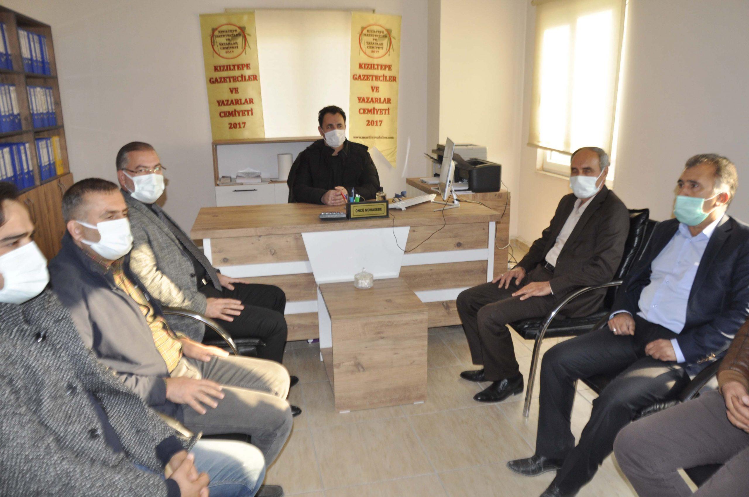 Başkan Şahin'den Gazetecilere ziyaret